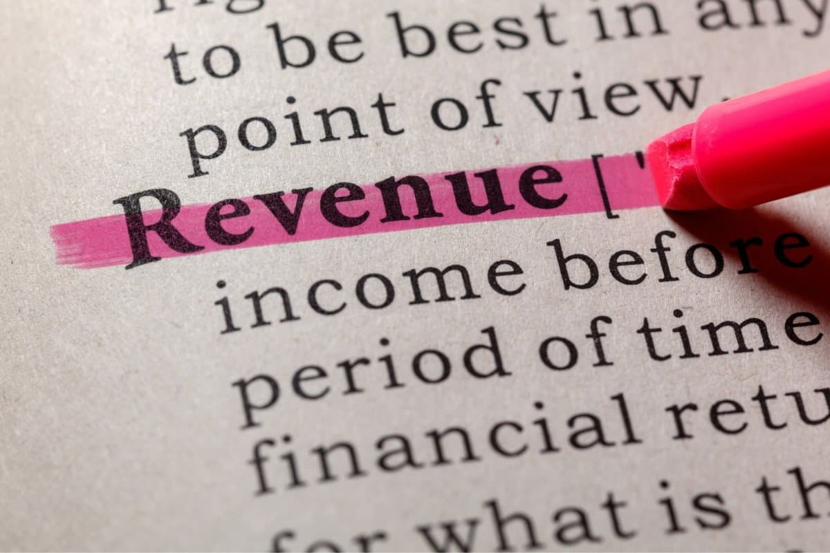 Revenue Definition Highlighted in a Dictionary